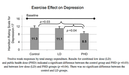 the effects of exercise on depression Physical activity, exercise, depression and anxiety disorders  positiv e effects of exercise and exer cise training on  þed into low and high depression .